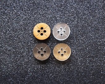 The Shirt Button - Cross | 4 Holes (Set of 10)