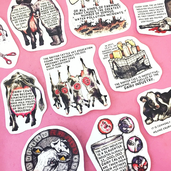 Dairy Is Scary sticker pack (x10 designs)