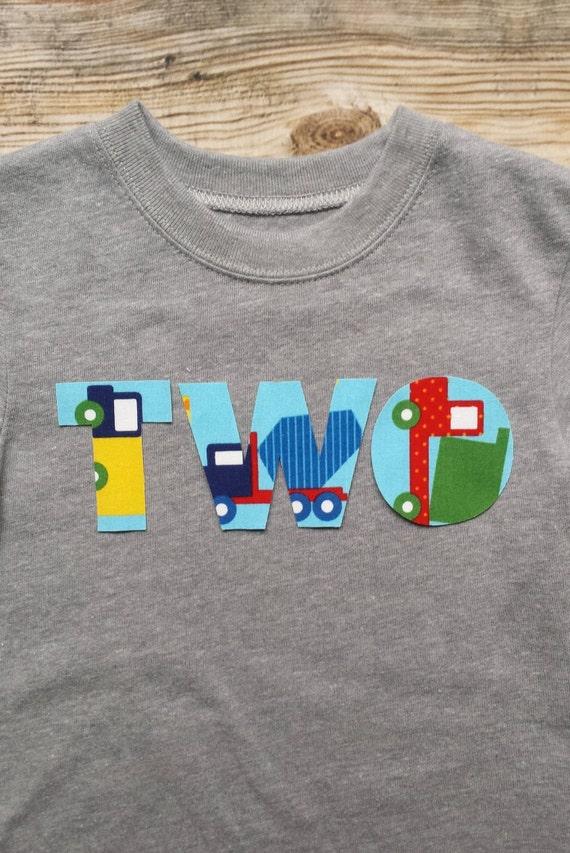 Boy Construction Birthday Shirt Toddler