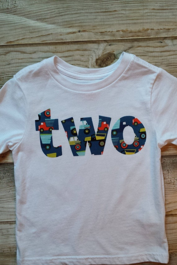Boy 2nd Birthday Trucks Shirt 2 READY TO