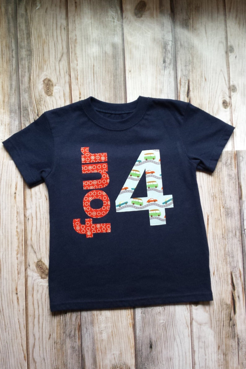 Boy Fourth Birthday Shirt 4 Toddler