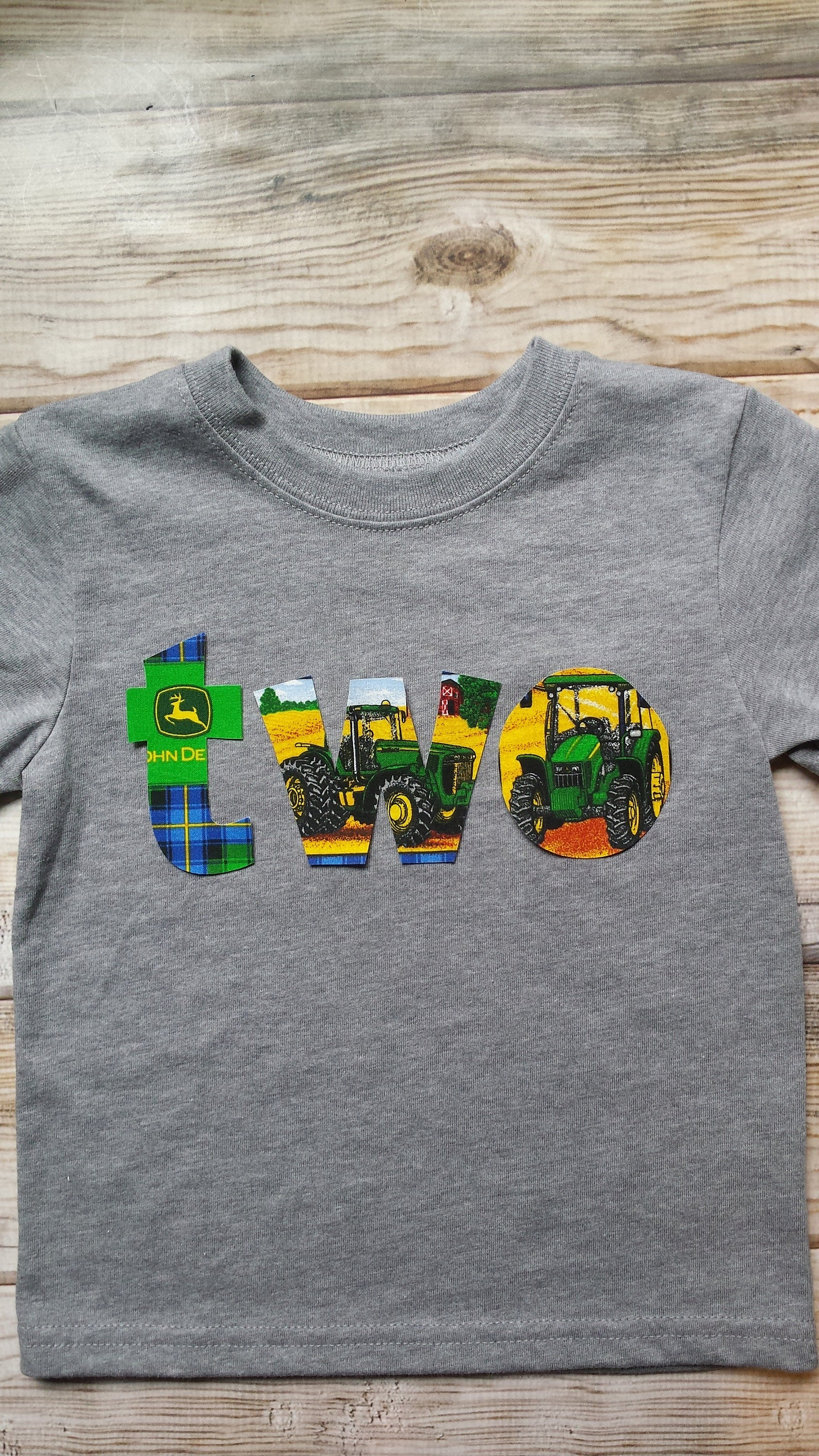 Boy Two John Deere Birthday Shirt John Deere Birthday Etsy