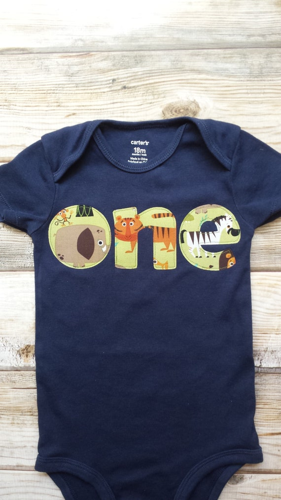 Boy 1st Birthday Jungle Shirt One Wild