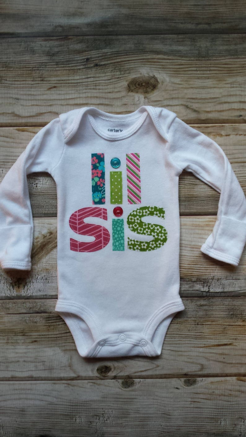 4496b0ee9 Lil Sis Bodysuit-Little Sister-Baby Sister Shirt-New Baby | Etsy