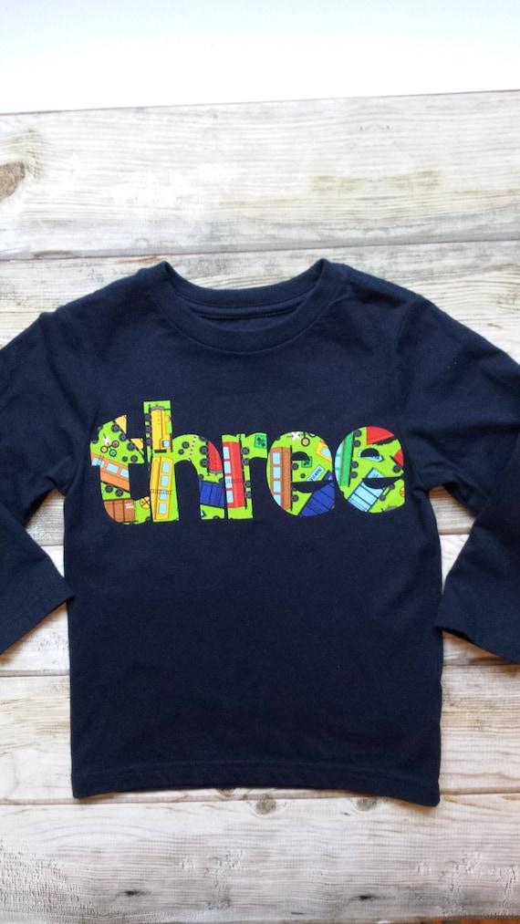 Boy Train Birthday Shirt Toddler