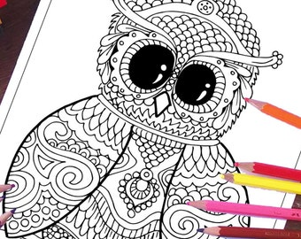 Owl Coloring Pages Animals Page Printable Sheets Cute Best Seller Adult