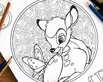 Disney Coloring Pages Figaro Gift For Kids Zentangle Etsy