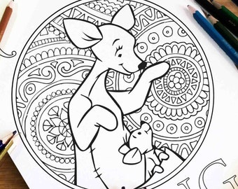 Disney Coloring Pages Ursula Gift For Kids Zentangle Etsy