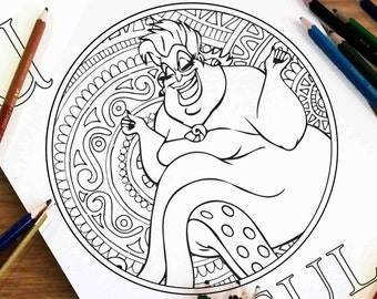 Disney Coloring Pages Jasmine Gift For Kids Zentangle Etsy