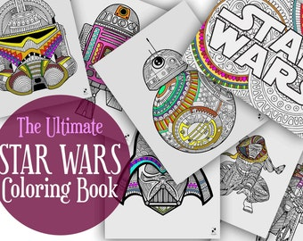 Star Wars Coloring Pages Book Printable Gifts Adult