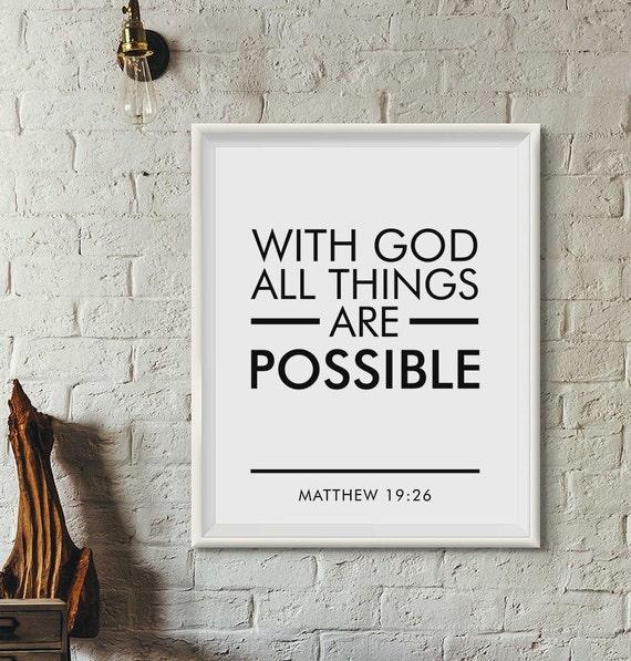 Bible verse wall art Scripture Print Christian Wall Art | Etsy