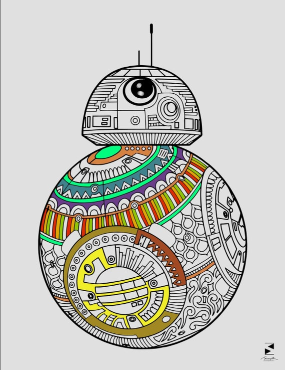Star Wars Coloring Page BB8 Printable