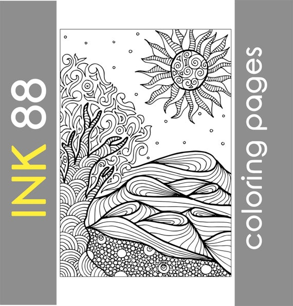 Adult coloring page, Nature coloring pages, Abstract Coloring Page,  Coloring sheets, Coloring for kids, Printable coloring page