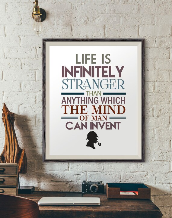 Sherlock Holmes Quotes Quote Poster Quotes Prints Digital Etsy Custom Life Quote Poster