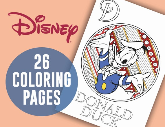 Disney Coloring Pages 26 PAGE Alphabet Coloring Disney Etsy