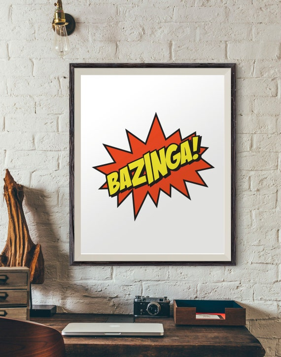 Bazinga Poster Big Bang Theory Posters Pop Culture Posters | Etsy