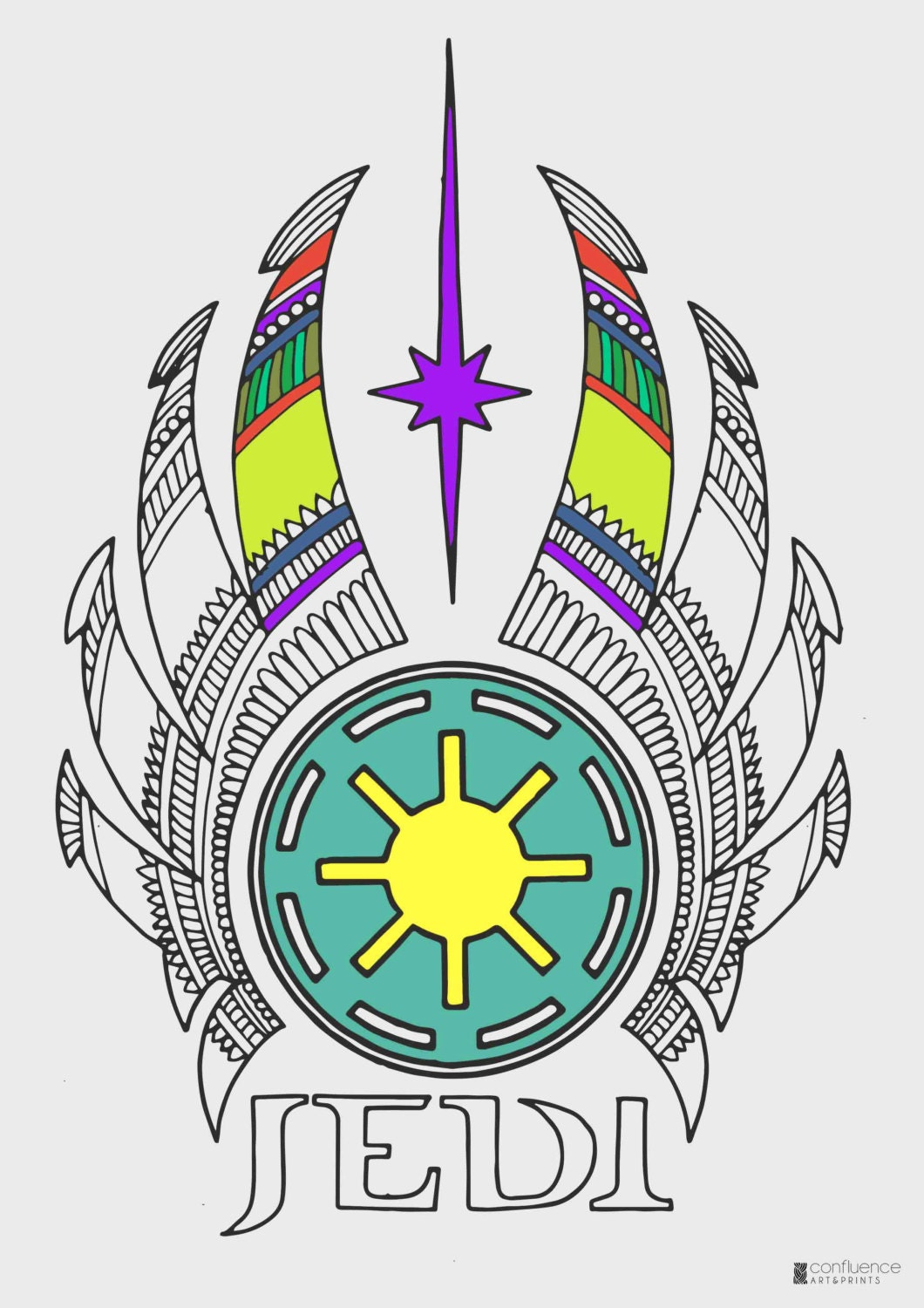 Star Wars Coloring Pages Jedi Logo Printable Adult ...
