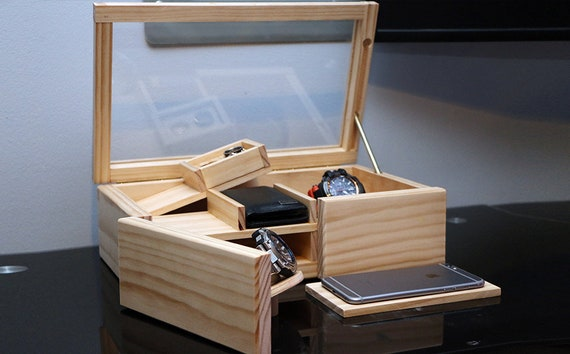 Jewelry Box Secret Box Handmade Jewelry Box. Original Gift Imagination Secret Compartment Box Secret Key Jewelry Box