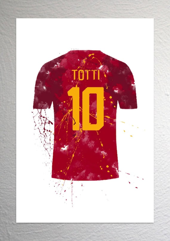 d69032044 Francesco Totti Roma Football Shirt Art Splash Effect A4