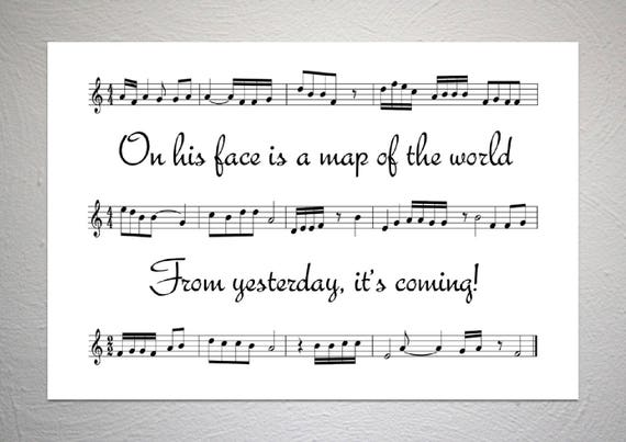 30 Seconds To Mars Map Of The World.30 Seconds To Mars From Yesterday Song Sheet Poster Etsy