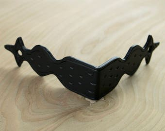 "4"" Angular Corner Bracket for Tables or Chests Hammered Iron Black Finish Handmade Borderland Rustic Hardware"