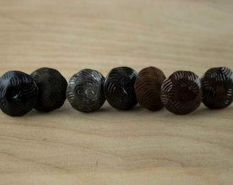"""10 Pack 1"""" Decorative Nails Wavy Pattern - Clavos - Iron Nails - Nail Heads - Studs - Door Nails - Barn Door Nails - Gate Nails -"""