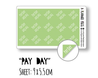 PAY DAY | Decorative, Functional, Finance, Work | Planner Sticker