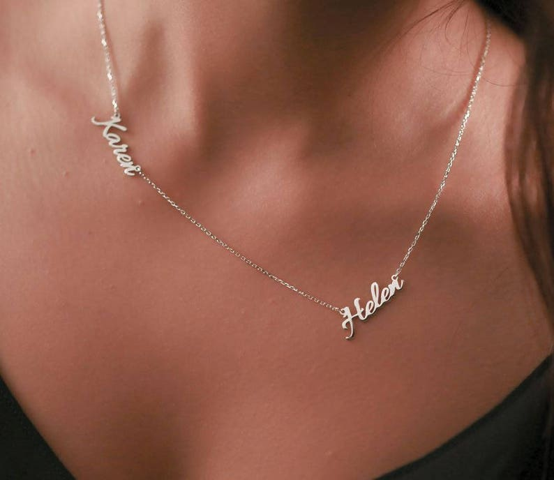 Double Name Necklace Personalized Two Name Necklace Custom Gift Gold Necklace -Name Jewelry-Personalized Gift-Personalized Jewelry