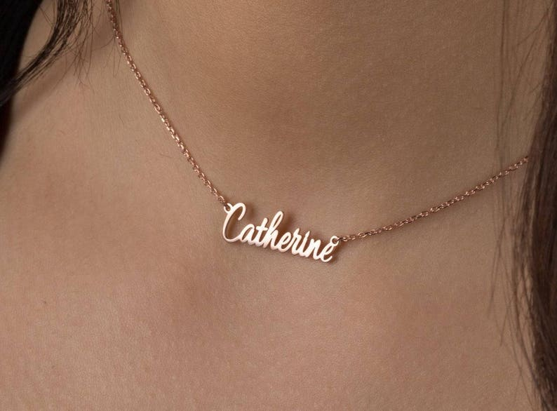 d99398ed101e1 Gothic Name Choker Necklace Personalized sterling silver name Necklace  Custom Bridesmaid Gift mother gift tiny name choker necklace