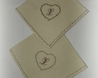 Monogram embroidered napkin