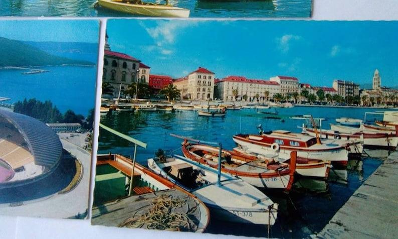 Postcards Vintage Split Hrvatska Croatia Postcards Collection Travel Croatia Split Souvenirs 1970s 1980s Croatian Islands 3 Old Postcards