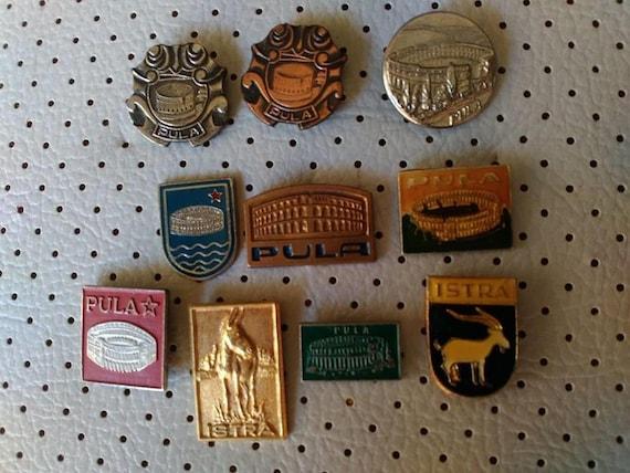 9431151e43b9 Pula Hrvatska Vintage Pins Souvenirs Sale Tourist Travel Coat