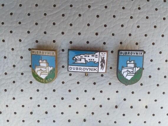 c3e2d03885a6 Dubrovnik Hrvatska Vintage Pins Souvenirs Sale Tourist Travel