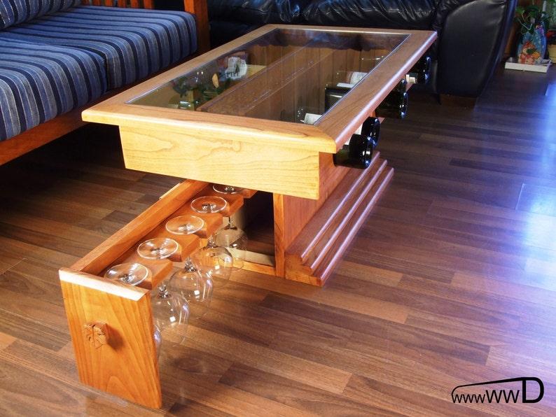 Wine desk-Digital PDF planWooden Wine DeskStorage for wine image 0