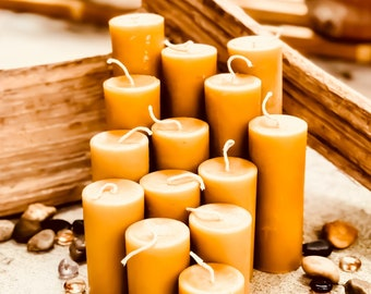 """100% Pure Beeswax Pillar Candle-2"""" wide up to 15"""" tall-pure beeswax pillar candles-scented beeswax candle-handmade beeswax pillar candle"""
