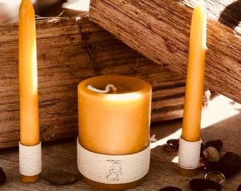 Free shipping-Unity Candle Set-Wedding Candles Set-100% Pure Beeswax unity candle set-beeswax unity candles-organic beeswax candles