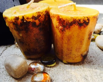 Blessing candle-100% pure beeswax-spell candle-altar candle-wiccan candle-natural candle-bees wax candle-beeswax candles