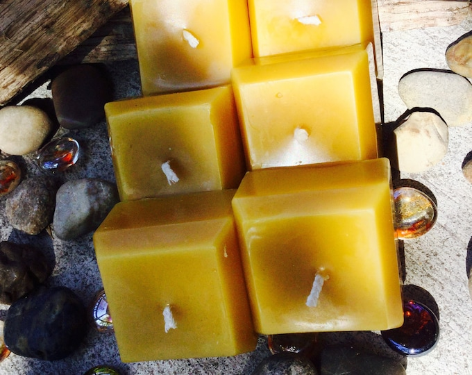 Unique 100% Pure Beeswax square votive candles