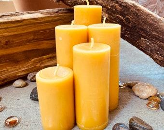 Vegan Pillar Candles Unscented Candles Holiday Deco Seasonal Candle Pillar Candles Eco Candles Romantic Candles Beeswax Pillar Candles