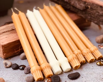 """Pair of 100% Pure Beeswax 10""""  Taper Candles"""