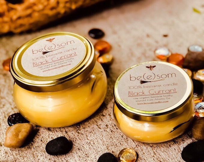 100% pure beeswax candles-4oz or 8oz glass terrine scented beeswax candles- handmade scented beeswax candles