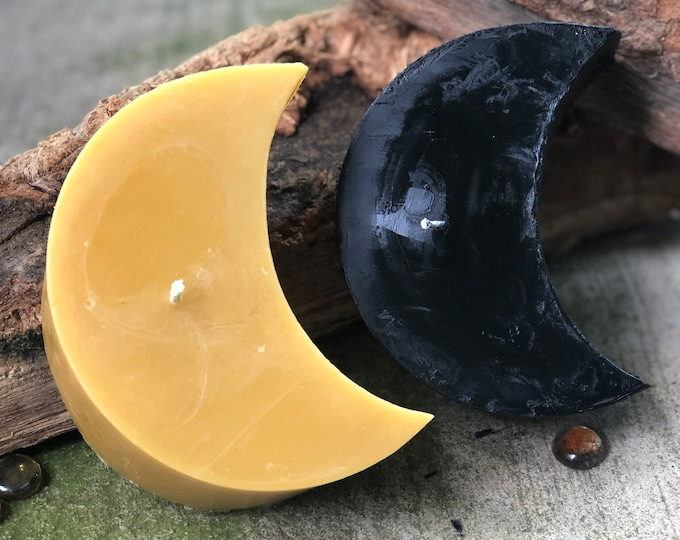 """100% pure beeswax Half Moon shaped candle-extra large large beeswax moon candle-6""""x3""""x 3"""" extra large half moon shaped  beeswax candle"""
