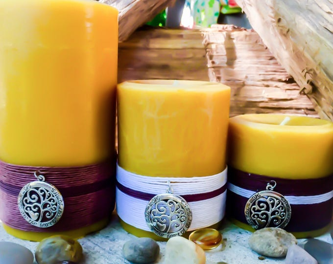 100% Pure Beeswax Candle gift set Free Shipping