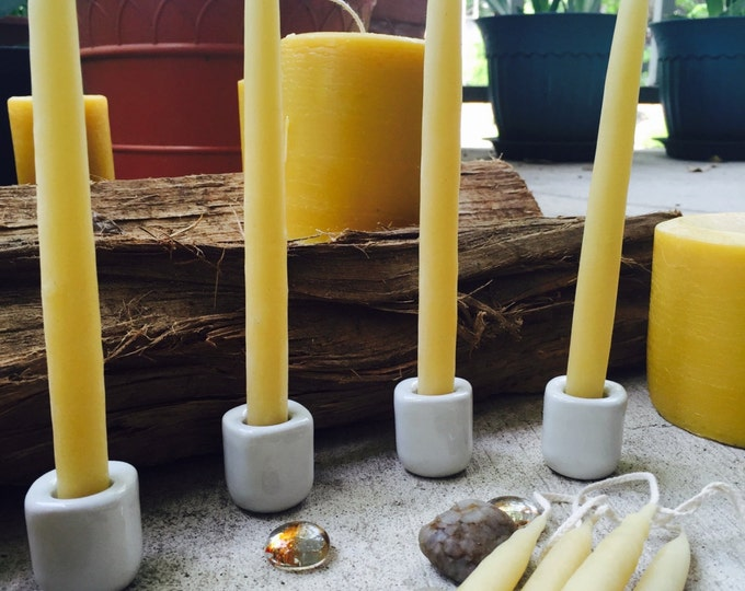 "100% Pure Beeswax hand-dipped candles-6"" tall beeswax taper candles-3/4"" wide hand-dipped candles-natural beeswax candles-organic beeswax"