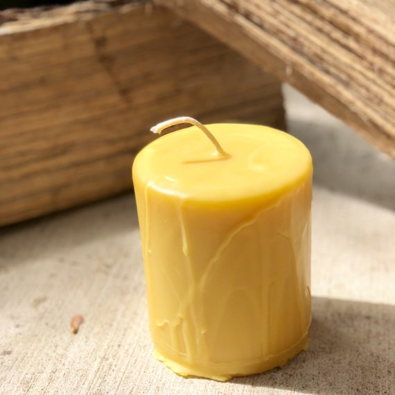 Pure Beeswax Candles-Handmade Drip Candle-4 inch wide pillar candle-organic Beeswax candle-Beeswax pillar candle-Beeswax candle--beeswax