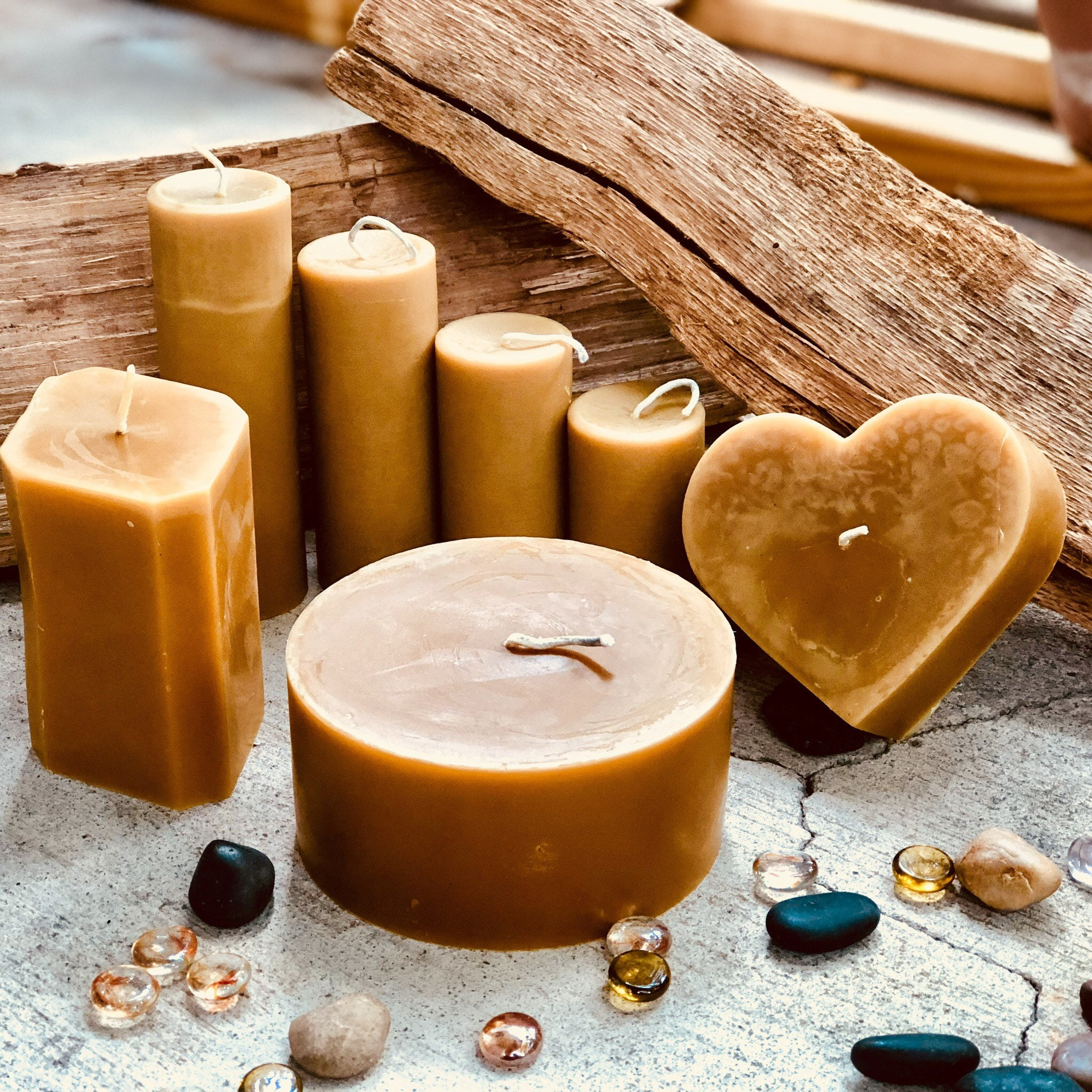 100% Pure Beeswax Pillar Candle-large 5.5inch wide Beeswax ...