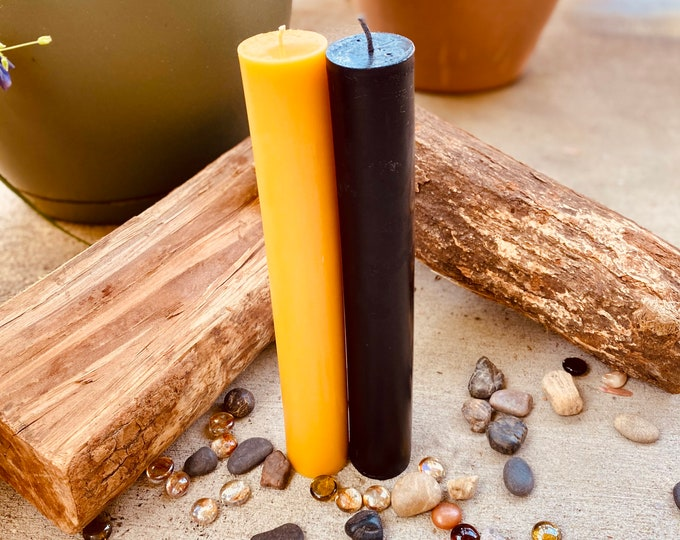 "Organic Pure Beeswax 1 3/4"" pillar black, white or natural honey beeswax candlestick-1.75"" pillar candles-pure organic beeswax pillar candle"