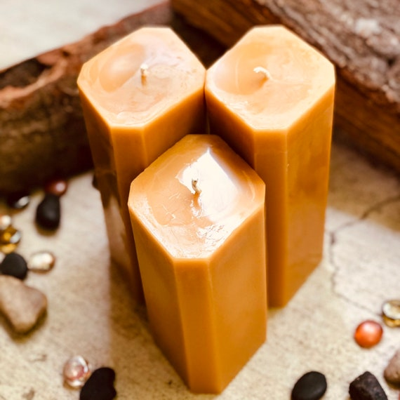 100% Pure Beeswax Candle-Unique Organic Beeswax Pillar Candle-diamond shaped Beeswax Candlex-extra large diamond beeswax pillar candle