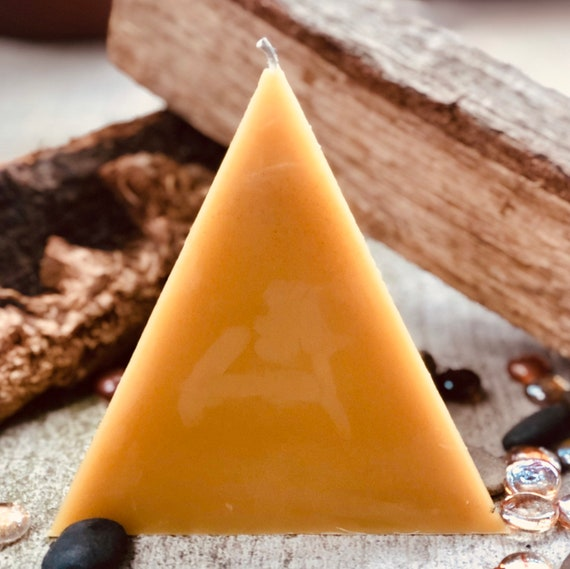 100% pure beeswax pyramid shaped candle-large pyramid candle-unique pyramid beeswax candles-organic beeswax