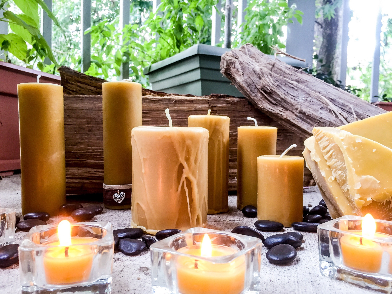 Pure Beeswax Candles-Handmade Drip Candle-organic Beeswax ...